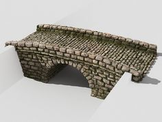 Creek bridge by Izat Abdraimov on Texture Mapping, 3d Texture, Bridge Model, Mountain Style, Architecture Photo, Landscape Architecture, Digital Art Tutorial, Shadowrun, Design Model