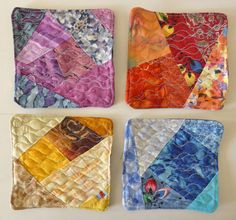 Quilted coasters fabric coasters set of 4 by RoniGsQuiltings