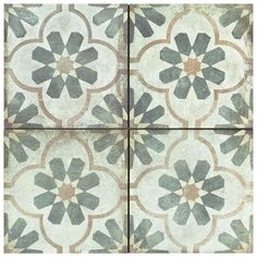 Named after a city in Italy, the Merola Tile D'Anticatto Decor Florence in. Porcelain Floor and Wall Tile exudes rustic charm. The quatrefoil and floral pattern in shades of moss green, Online Tile Store, Tile Saw, Shades Of Beige, Kitchen Flooring, Kitchen Backsplash, Fireplace Surrounds, Wall Patterns, Stone Tiles, Quatrefoil