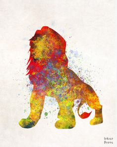 Details about mufasa the lion king wall art disney watercolor poster nursery print unframed Disney Pixar, Arte Disney, Disney And Dreamworks, Disney Magic, Lion King Poster, Lion King Art, Art Roi Lion, Splatter Art, Watercolor Splatter