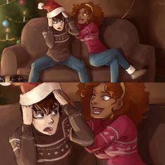 Hazel and Nico at Christmas :)
