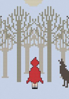 Litte Red Riding Hood cross stitch pattern by CaractacusCrane