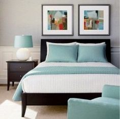 53 Ideas Bedroom Black Furniture Decor Night Stands For 2019 Black Bedroom Furniture, Bedroom Black, King Bedroom, House Furniture, Aqua Bedrooms, Grey Bedroom With Pop Of Color, Bedroom Turquoise, Bedroom Colors, Bedroom Ideas