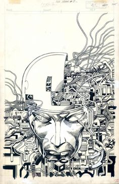 Cover of Machine Man issue #2 by Barry Windsor Smith