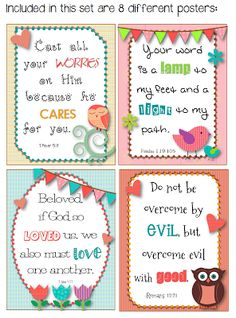 Bible Verse Posters