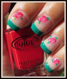Southern Sister Polish: Rose Nail Art