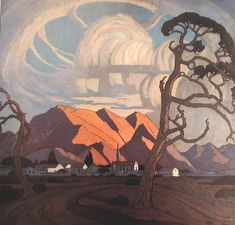 J H Pierneef. One of the best South African Artists in history. The landscapes of my childhood. I am blessed to own one of his painting and will treasure it and pass it on to my daughter one