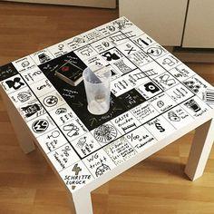 Inspiration: Aus einem Tisch ein Brettspiel machen                                                                                                                                                     Mehr