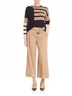 Max Mara - Multi-Patterned Wool & Cashmere Blend Sweater