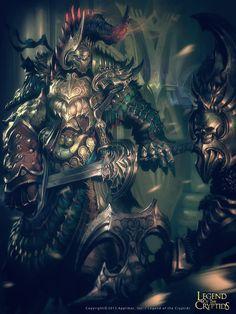 Guerrero en su armadura legend of the cryptids