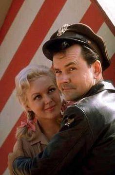 """Hogan's Heroes"" (1965-71)  Cynthia Lynn as Helga  Bob Crane as Col. Robert Hogan"