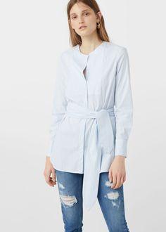 Popeline-hemd - Jeans für Damen | MANGO Deutschland