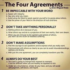 Wake each day and make these your agreements with yourself.