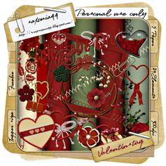 saxonia44: Valentine. Colección de elementos románticos.