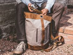 Plan your next adventure around this brand new men's duffle bags. The classic design and practical waxed canvas will allow you to travel around the world with confidence. Leather Backpack For Men, Leather Duffle Bag, Duffle Bags, Leather Wallet, Mens Travel Bag, Travel Bags, Leather Gifts, Leather Men, Unique Gifts For Men