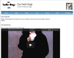 Videos of hand signals for deaf dogs at www.ourdeafdogs.com.