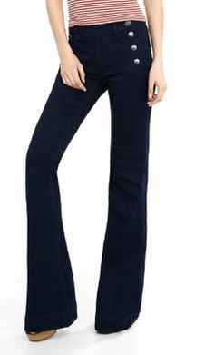 mid rise sailor bell flare pant from EXPRESS