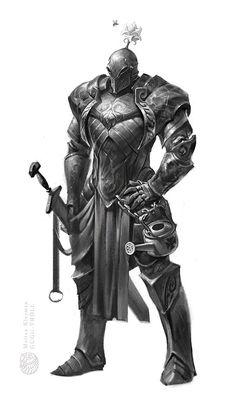 Knight with flower by gugu-troll