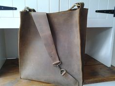 large brown leather bag £134.00