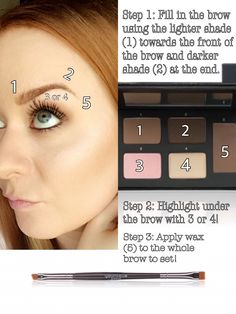 "Wonderful ""how to""! Love this. Gorgeous brows and face. Younique Brow Palette and Brow Artist Brush!"