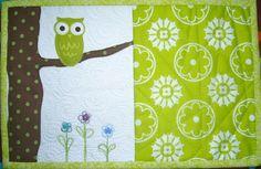 Owl mug rug design...adorable!