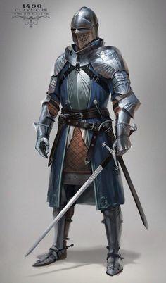 m Fighter Plate Armor Helm Sword midlvl Ser Kadyn Langford. Loyal knight of the Citadel & brother of Angston. Knight Medieval, Medieval Armor, Medieval Fantasy, Viking Armor, Fantasy Character Design, Character Inspiration, Character Art, Character Concept, Armadura Medieval