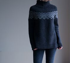 Ravelry: Project Gallery for Monochrome Pullover pattern by Katrin Schneider