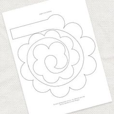 paper rose template - free download at idoityourself.com.au -#diy #craft #flower