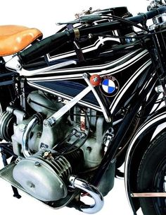 Old bmw motorcycle