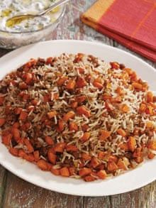 Rice with carrots | Middle Eastern food and drink | The Guardian Side Dish Recipes, Rice Recipes, Indian Food Recipes, Cooking Recipes, Healthy Recipes, Moroccan Recipes, Oriental Recipes, Asian Recipes, Easy Recipes