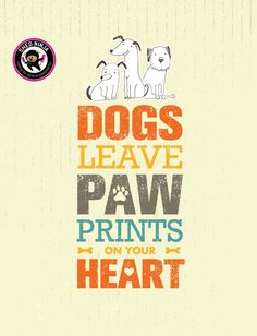 Dogs Leave Paw Prints On Your Heart. Outstanding Quote Cute Vector Concept on Recycled Cardboard Background , Dog Quotes, Animal Quotes, Dog Cleaning, Dog Search, Banner Printing, Dog Paws, Free Vector Art, Dog Friends, Dog Mom