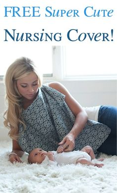 FREE Super Cute Nursing Cover! {just pay s/h} ~ these make great Baby Shower gifts, too!! #babies #thefrugalgirls