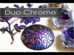 Découverte des poudres Duo chrome / tuto polymère - YouTube
