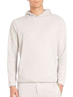 THEORY Stasius Axis Terry Cotton Hoodie. #theory #cloth #hoodie