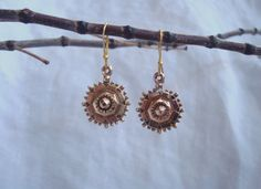 Antique Gold Earrings - Mid 1800 Victorian Era Etruscan Style Gold Earrings