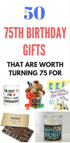 167 Best 75th Birthday Gift Ideas Images On Pinterest In 2018