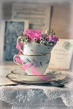 - teacups-with-flowers-and-letter