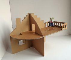 Een kartonnen poppenhuis maken
