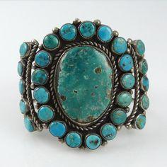 1970s Morenci Turquoise Cuff