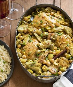 Braised Chicken with Artichokes and Olives - Rebecca Katz, MS, Author, Educator & Culinary Translator