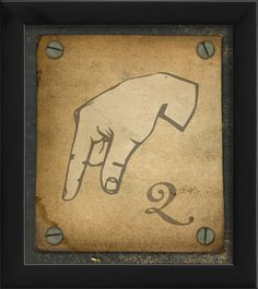 Sign Q Framed Graphic Art