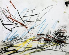 Mark Making- Frank Auerbach, 'Working Drawing for 'Primrose Hill'' 1968 Abstract Drawings, Art Drawings, Henri Michaux, Frank Auerbach, Christian Marclay, Working Drawing, Tate Gallery, Interactive Art, Mark Making