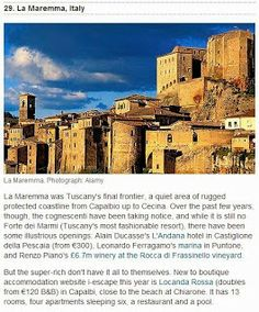 Il Guardian consiglia la Maremma Toscana #ITALY