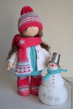 Peoples handmade.  Fair Masters - handmade.  Buy Winter fun.  Handmade.  New Year 2015, textile doll
