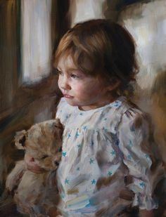 Michelle Dunaway, Best Friends, oil, 16 x 12.