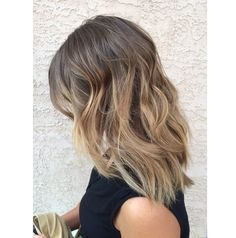 Light brown to blonde ombre sombre. Balayage brunette. Balyage blonde. Ash brown. Ash blonde. Medium length hair