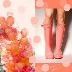 coral hunter boots!