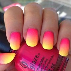 jaune, ombre, ongles, Tumblr, joliment
