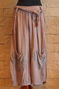 Sarah Santos Lagenlook Collection Mocha Pants Size XL | eBay