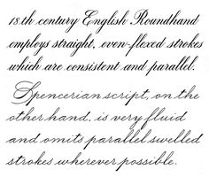 English Roundhand & Spencerian Script - Calligraphy Discussions ...